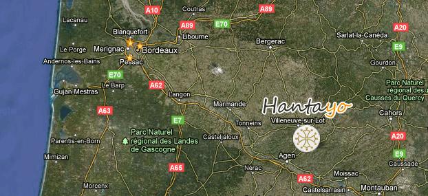 Carte pour nous trouver - Hanatyo ferme équestre