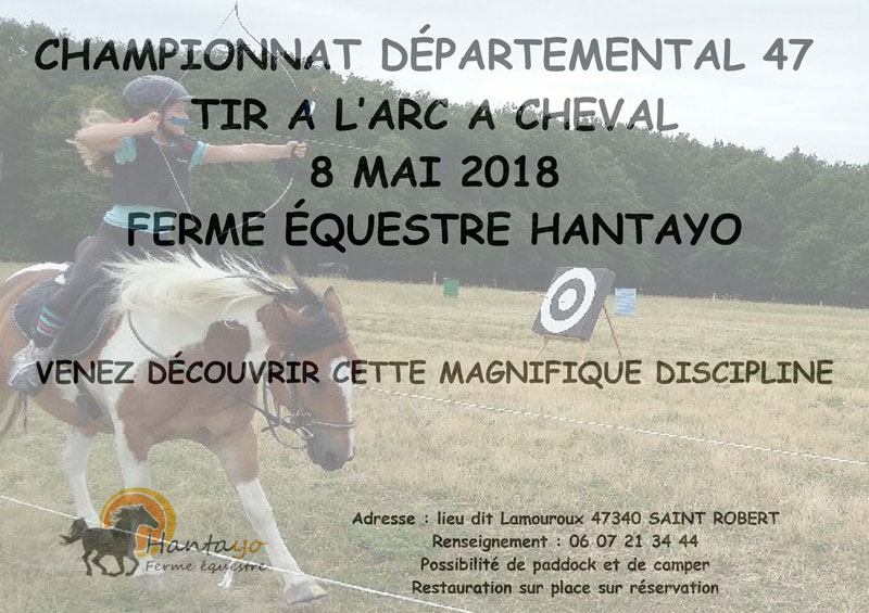 Championnat départemental tir à l'arc à cheval